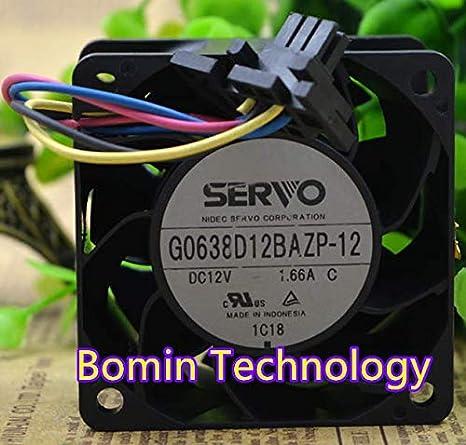 Bomin Technology for SERVO G0638D12BAZP-12 6038 12v 1.66A 6CM Cooling Fan
