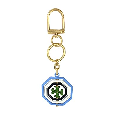 86514672e216 Image Unavailable. Image not available for. Color  Tory Burch Rotating Geo  Logo Key FOB Bag Charm