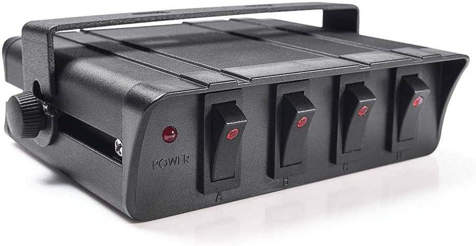 4 cuadrilla de encendido/apagado Interruptor oscilante Caja con luz LED, Panel de Interruptores 12-24V 20A para vehículo automotor marina del barco SUV: Amazon.es: Coche y moto