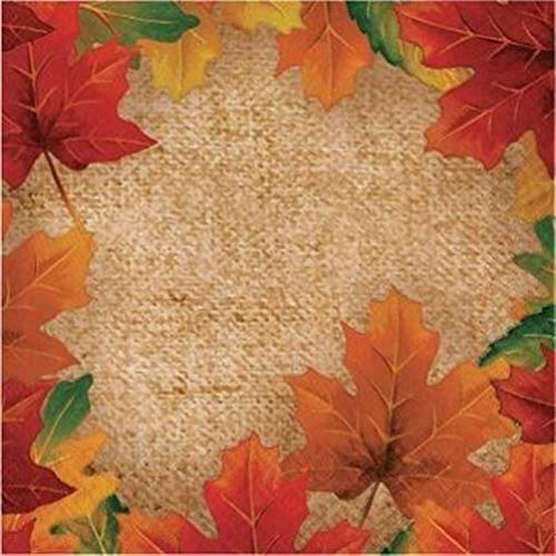 hersrfv home Rustic Leaves Lunch Napkins 36 Pack Fall Autumn Thanksgiving Halloween