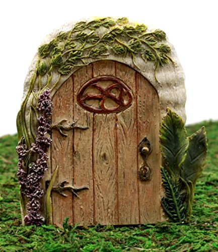 Ebros Gift Enchanted Fairy Garden Miniature Lavender Oak Tree House Door Figurine 4