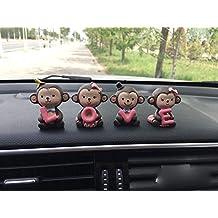 uzhopm Lovely Cute Monkeys Car Dashboard Decorations Car Home Office Ornaments Home Decoration (Monkeys Love)