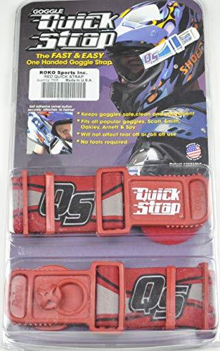 Roko Goggle Quick Strap Red Arnett Oakley Spy ()