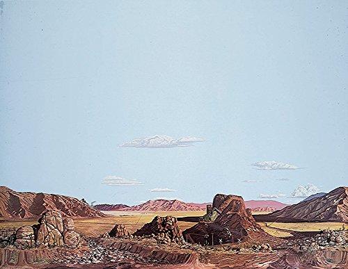 (Walthers, Inc. Instant Horizons Dry wash Desert Background Scene, 24 X 36 60 x 90cm )