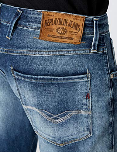 Jeans mid 9 Blu Slim Replay Anbass Blue Denim Uomo zqwFw5xXH