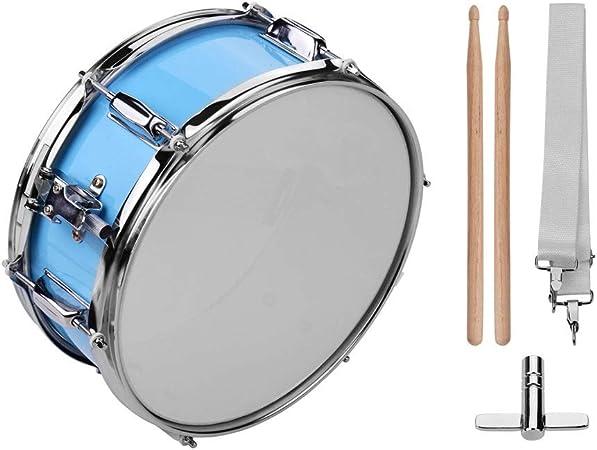 ABMBERTK Tambor de percusión de Cabeza de Caja de 12 Pulgadas, con Llave de Tambor de Correa de Hombro de Baquetas, para Banda de Estudiante, como espectáculo: Amazon.es: Hogar