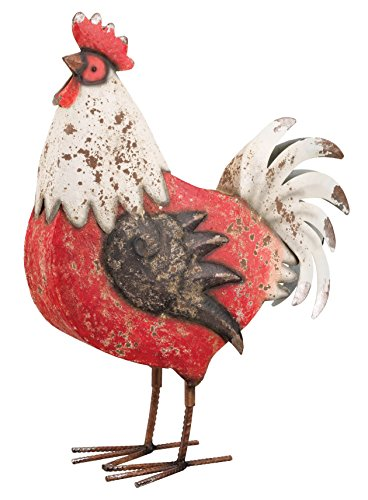 Regal Art & Gift Country Rooster Decor, 17-Inch, Red/White