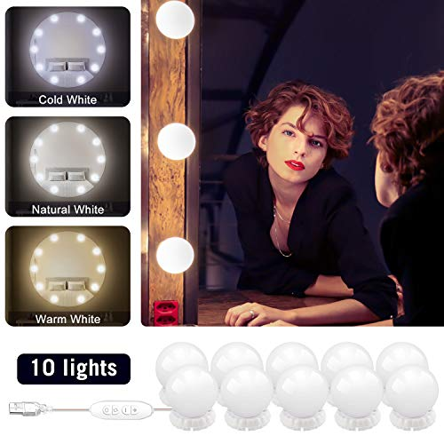 Vanity Mirror Lights Wall Mount Hollywood Style LED Vanity Lights with 10 -