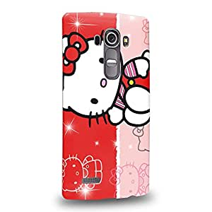 Case88 Premium Designs Hello Kitty Collection 0627 Protective Snap-on Hard Back Case Cover for LG G4