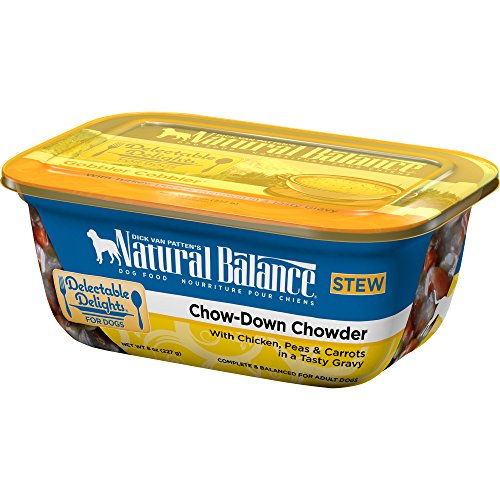 Natural Balance Delectable Delights Wet Dog Food, Chow-Down Chowder Stew, 8-Ounce Container (Pack Of 12)