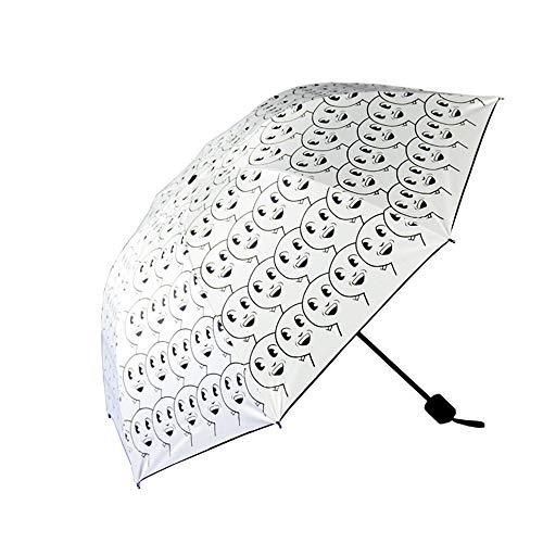 HULKAY Upgrade Ribs Auto Open/Close Windproof Umbrella Waterproof Travel,Portable Umbrellas With Ergonomic Handle(White) by HULKAY (Image #1)
