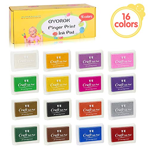 Ink Pads, GYORGKSHI Washable Stamp Pad for Kids, [16 for sale  Delivered anywhere in USA