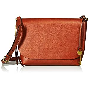 Fossil Maya Small Flap Crossbody Bag, brown, One Size
