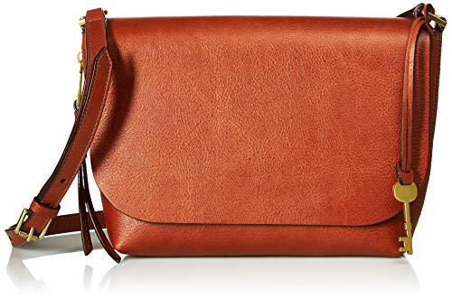 Fossil Maya Small Flap Crossbody Bag, brown, One Size (Hobo Handbags Fossil)