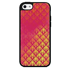 Gold and Pink Pattern Hard Snap on Phone Case (iPhone 5/5s) Designed by HnW Accessories