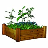 Gronomics RGB 34-34S 34-Inch by 34-Inch by 13-Inch Raised Garden Bed, Finished