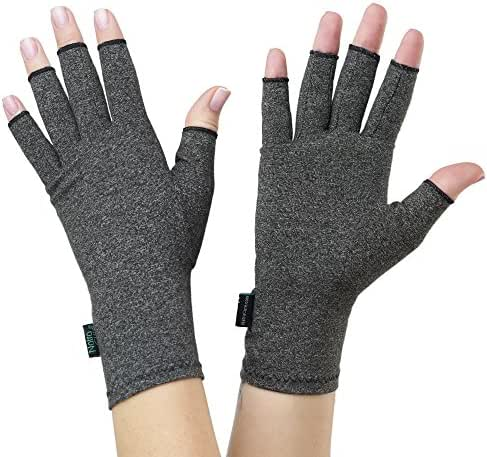 NatraCure Arthritis Compression Gloves - Large - (for Relief from Stiff Joints, Inflammation, Carpal Tunnel, and Rheumatoid & Osteoarthritis Pain)