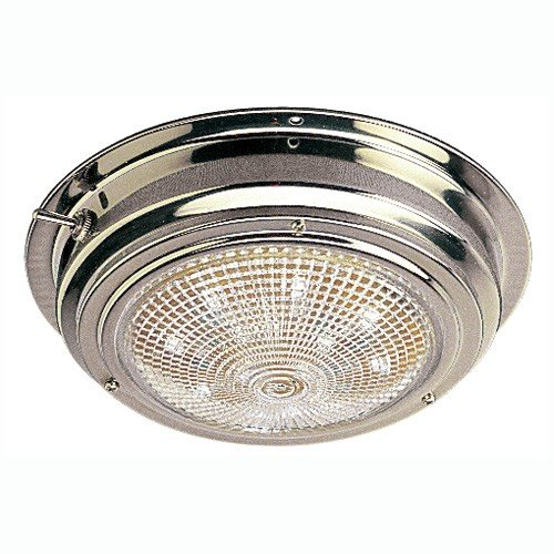 Line Steel Sea Stainless Dog (Sea Dog 400203-1 LED Stainless Steel Dome Light with 5-Inch Lens)