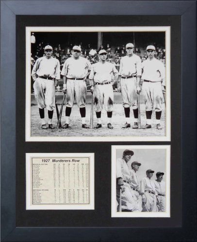 (Legends Never Die 1927 New York Yankees Murderer's Row Framed Photo Collage, 11x14-Inch)