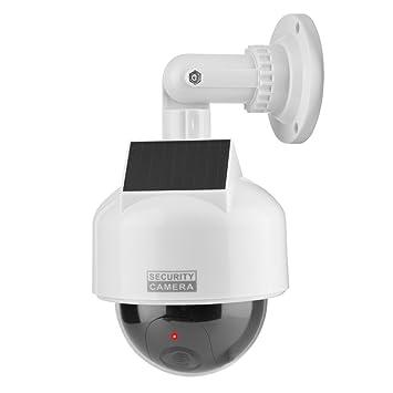 Vbestlife Solar Cámara de Seguridad inalambrico Interior y al Aire Libre Impermeable,con LED Parpadeante,Simulada de La Cámara para el Hogar/Almacén: ...