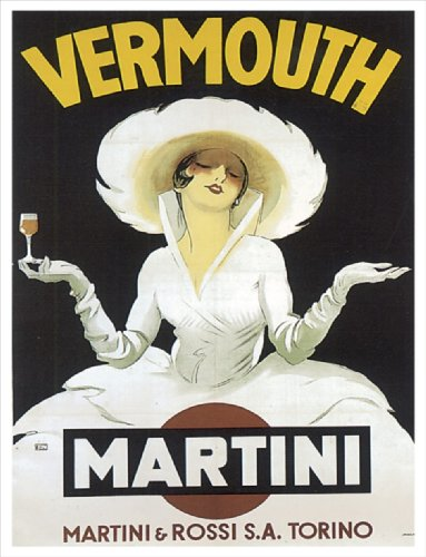 RETRO ART Vintage Pub Bar Sign Vermouth Martini 8x10inch METAL VINTAGE STYLE NOSTALGIC ADVERTISING WALL SIGN