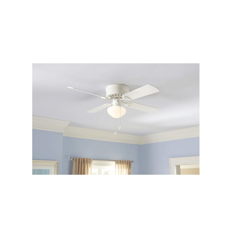 Set of 2 harbor breeze armitage 42 in white flush mount ceiling set of 2 harbor breeze armitage 42 in white flush mount ceiling fan with light kit amazon aloadofball Choice Image