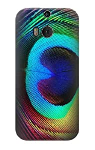 S0511 Peacock Case Cover for HTC ONE M8