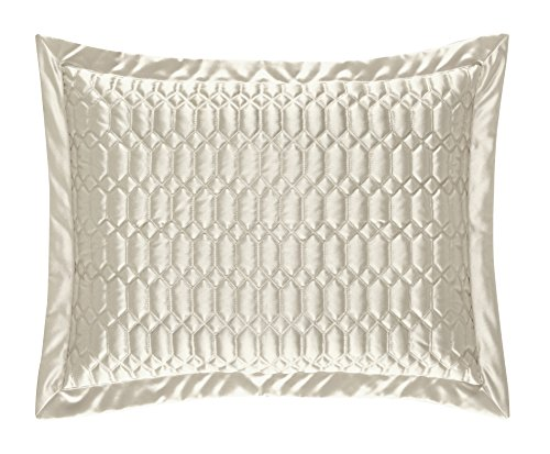 Saranda Satin Quilted Pillow Sham by Five Queens Court