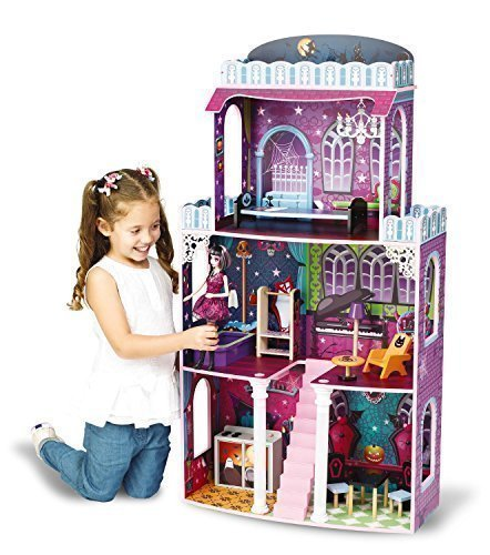 Casa Gigante de Muñecas (Halloween) – 118x62x28cm Apta para Muñecas Monster High Barbie