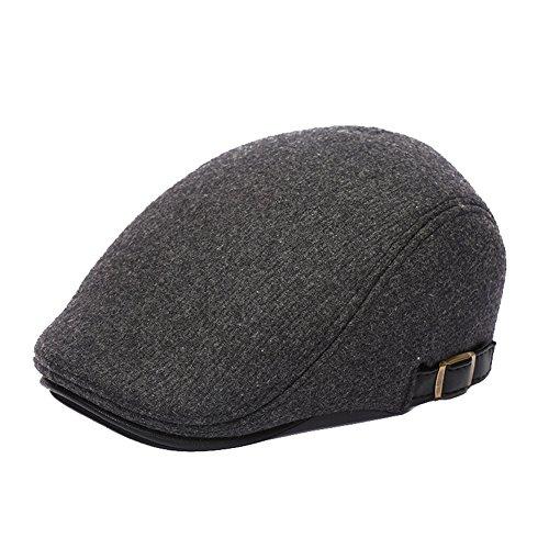 Molodo Men Classic Wool Newsboy Flat Cap Winter Gatsby Ivy Hunting Beret Hat