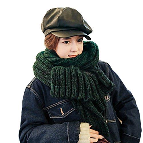 Book Mohair - Winter Womens Mens Warm Thicken Knit Woolen Scarves Long Crochet Mohair Scarf