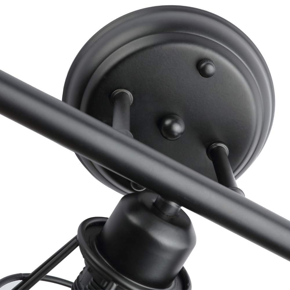 3 Llamas Cable De 1.8M Con Interruptor De Enchufe L/ámpara De Pared Hierro Vintage Interior Apliques De Pared Ajustable Estilo R/ústico Industrial Retro E27 Metal Jaula Alambre Luz Pared