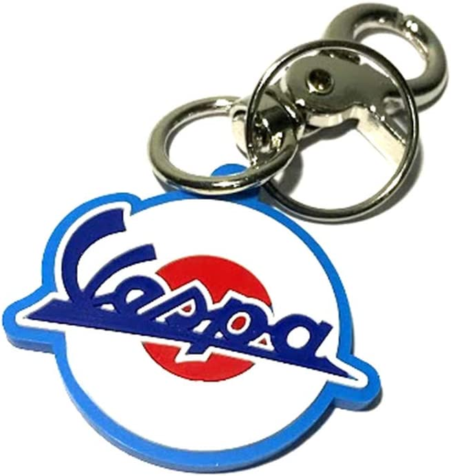 isbridge Replacement Fit For Rubber Keychain Key Ring Motorcycle Racing Bike Vespa TypeA