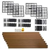 NewTechWood DAF-8-TK 8.64-Square Feet Deck-A-Floor Modular Composite Flooring System Kit, Teak
