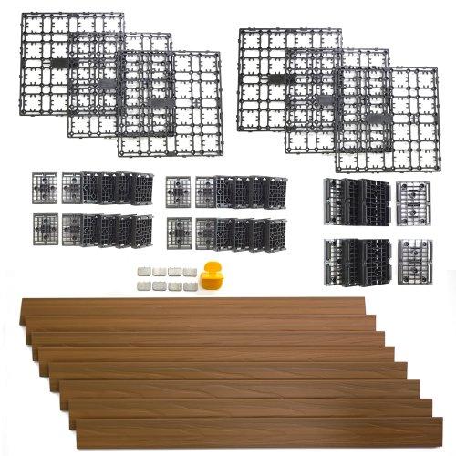 NewTechWood DAF-8-TK 8.64-Square Feet Deck-A-Floor Modular Composite Flooring System Kit, Teak (Composite Deck Boards compare prices)