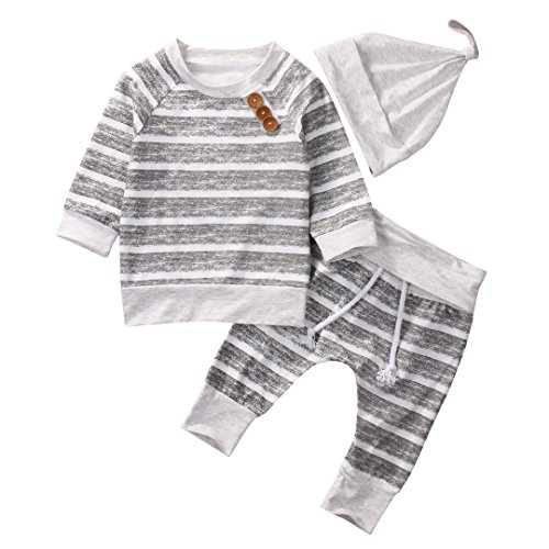 Baby Clothing Sets 2017 Autumn Newborn Boys Girls Clothes Infant Striped Tops...