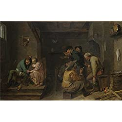 Oil Painting 'Adriaen Brouwer Tavern Scene ' Printing On High Quality Polyster Canvas , 10 X 15 Inch / 25 X 39 Cm ,the Best Laundry Room Gallery Art And Home Gallery Art And Gifts Is This Replica Art DecorativePrints On Canvas