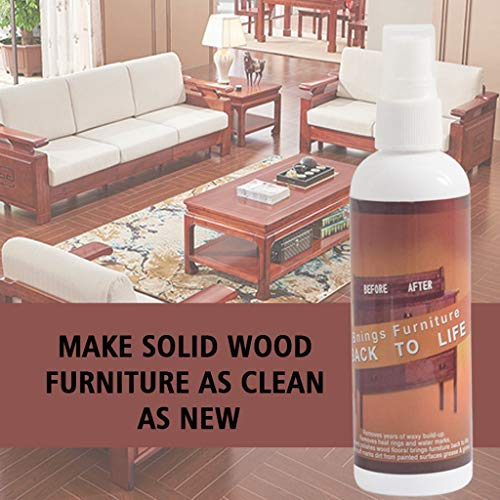 Wood Repair Kit, 2019 Newest Instant Fix Wood Scratch Remover Set Fast Magical Acting Wood Scratch Spray Cover Furniture Touch Up Restorer for Wooden Floor, Table, Desk, Bed, Cabinet (120ML,Towel)