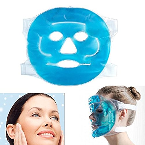 - Hot Cold Facial Ice Mask Face Gel Pad Freezable, Reusable- for Swollen Face, Puffy Eyes, Dark Circles, Headache, Migraine, Sinus Relief