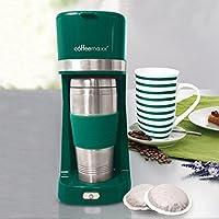 TV Unser Original 09578 coffeemaxx Single-Kaffeemaschine inklusive Keramikbecher und Thermobecher, grün