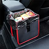 DeemoShop Foldable Wastebasket Trash Bin Rubbish Container Car Garbage Bin Bag Hanging Storage Bags