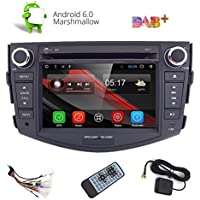 HIZPO 7 Android 6.0 Quad Core Capacitive Touch Screen Car Stereo Radio DVD Player with Screen Mirroring Function OBD2 DAB+ for Toyota RAV4
