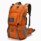 Mountaintop 40 Liter Hiking Backpack for Outdoor Camping (Orange2)