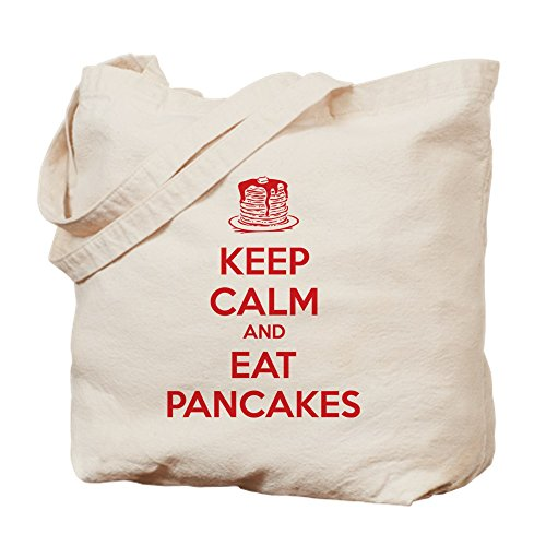 CafePress - Keep Calm And Eat Pancakes - Natural Canvas Tote Bag, Cloth Shopping Bag