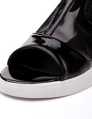 MEIREN Peep black Shoes Shoes Dress Wedge Colors Women's Sandals Heel available Toe More rwr1Fqa