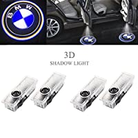 Ricoy For BMW Logo LED Step Door Courtesy Welcome Light Ghost Shadow Laser Projector (Pack of 4) from Ricoy