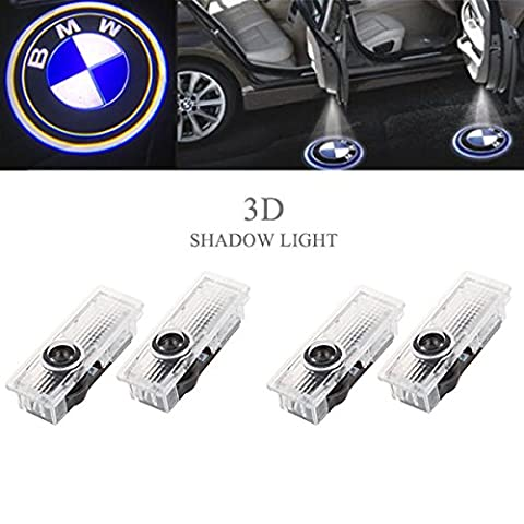Ricoy For BMW Logo LED Step Door Courtesy Welcome Light Ghost Shadow Laser Projector (Pack of 4) (Bmw Shadow Door Light)