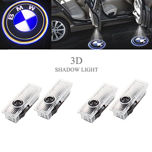 Ricoy For BMW Logo LED Step Door Courtesy Welcome Light Ghost Shadow Laser Projector (Pack of 4)