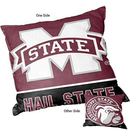College Flags and Banners Co. Mississippi State Bulldogs Hail State Logo -