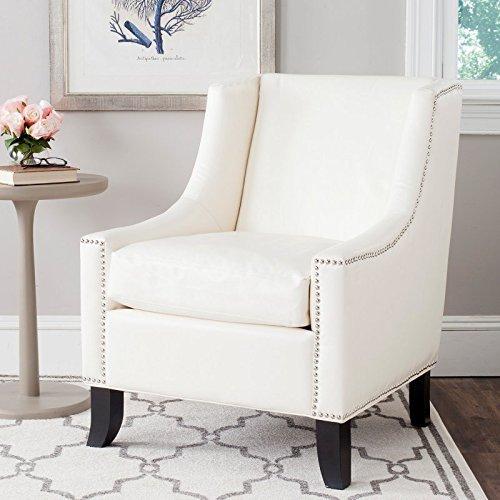 - Safavieh Mercer Collection Daniel Antique White Club Chair, Blue
